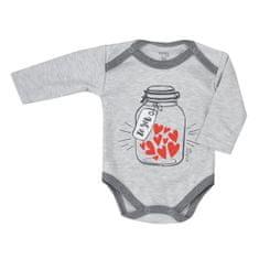 KOALA Dojčenské body s dlhým rukávom Koala To You svetlo sivé 86 (12-18m) Sivá
