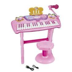 Reef dětské elektronické klávesy se stoličkou a mikrofonem, 3+