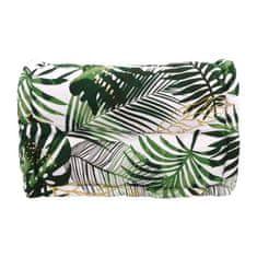 Cotton Wood polstrované opěradlo, zelený potisk Paradise, 100% bavlna,60x35x22 / 11cm
