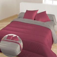 Bleu Calin prošívaný přehoz na postel, 140x200 cm, červeno-šedá