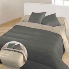 Bleu Calin prošívaný přehoz na postel, 220x240 cm, šedá/béžová