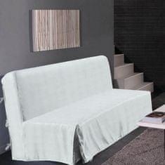 Hometrend elegantní potah na pohovku, vhodný pro trojsedačku, 140x190 cm, barva bílá