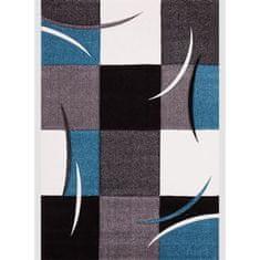 Nazar kusový koberec šedá/modrá/bílá, 160 x 230 cm