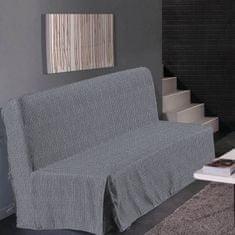 Hometrend elegantní potah na pohovku, vhodný pro trojsedačku, 140x190 cm, barva černá/grafit