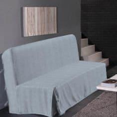 Hometrend elegantní potah na pohovku, vhodný pro trojsedačku, 140x190 cm, barva světle šedá