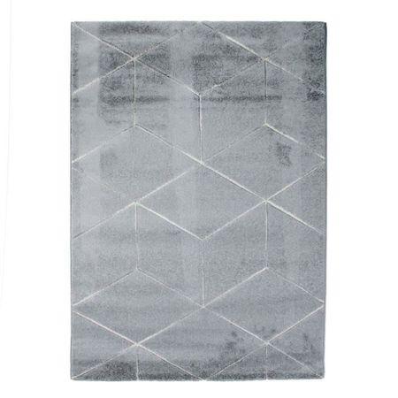 Alecto kusový koberec šedý, 120 x 170 cm