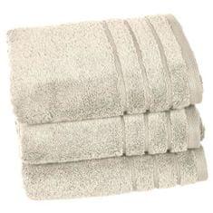 Vent Du Sud set 3 ručníků 50x90 cm, světle béžová