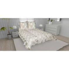 prošívaný přehoz na postel se dvěma polštáři, 220x240 cm, béžová