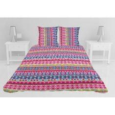 prošívaný přehoz na postel se dvěma polštáři, 260x240 cm, vícebarevné provedení