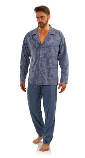 Sesto Senso Pánské pyžamo s dlouhými rukávy tmavě modrá M