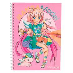 Manga Model Omalovánky , Manga Nadja, se samolepkami