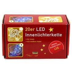 Idena Svetelná reťaz, vnútorný, LED, farebný, 3,40 m