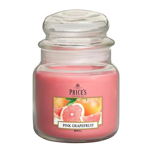 Price's Candles Svíčka ve skleněné dóze Price´s Candles, Růžový grapefruit, 411 g