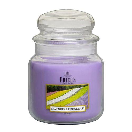 Price's Candles Svíčka ve skleněné dóze Price´s Candles, Levandule a citronová tráva, 411 g