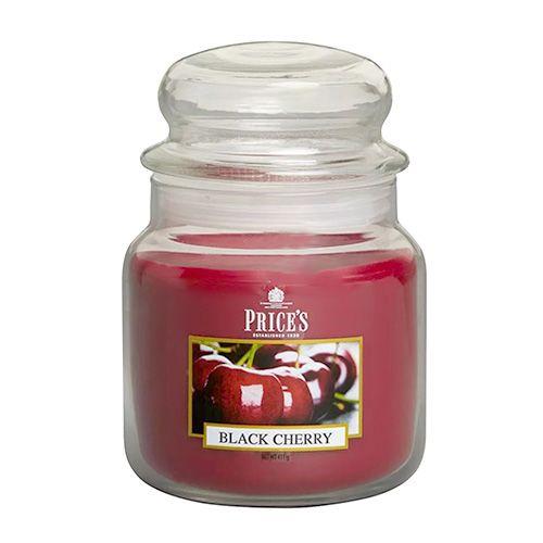 Price's Candles Svíčka ve skleněné dóze Price´s Candles, Černá třešeň, 411 g