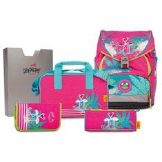 DerDieDas DerDieDas iskolai készlet, 5 darabos, Ergoflex, flamingók