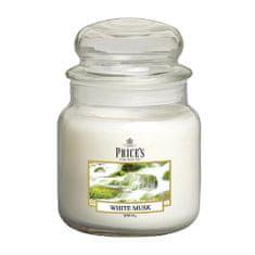 Price's Candles Svíčka ve skleněné dóze Price´s Candles, Bílé pižmo, 411 g