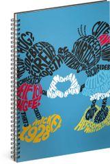 Mickey Mouse Špirálový blok Mickey – Kiss, linajkovaný, A4