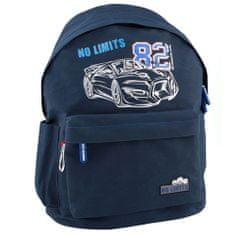 Monster Cars Batůžek , No Limits 82, modrý s karabinou