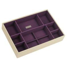 Stackers Poschodie šperkovnice Stacker, Krémová/purpurová | Jewellery Box Layers Supersize