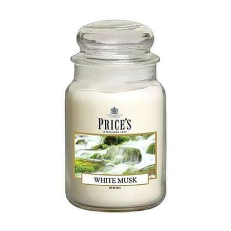 Price's Candles Gyertya üvegedénybe Ár gyertyák, Fehér pézsma, 630 g