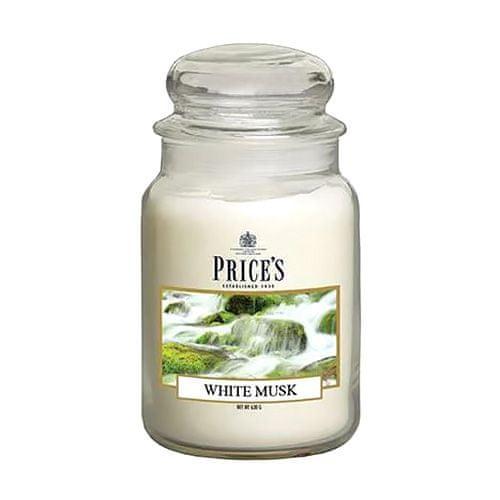 Price's Candles Svíčka ve skleněné dóze Price´s Candles, Bílé pižmo, 630 g