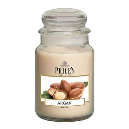 Price's Candles Sveča v steklenem kozarcu Sveče, Argan, 630 g