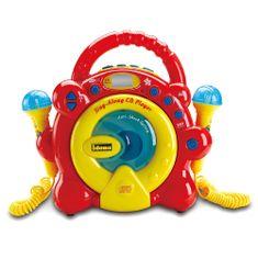 Idena CD přehrávač , Žluto-červený, 2 mikrofony