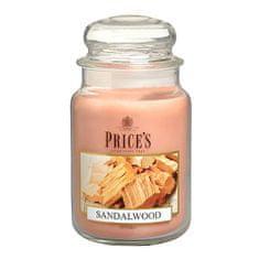 Price's Candles Svíčka ve skleněné dóze Price´s Candles, Santalové dřevo, 630 g