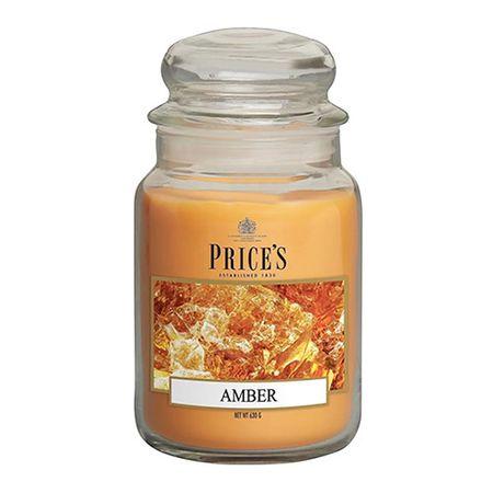 Price's Candles Gyertya üvegedénybe Ár gyertyák, Borostyánkő, 630 g