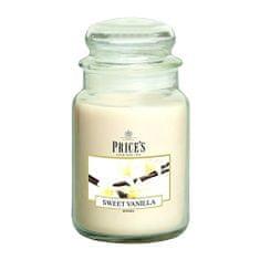 Price's Candles Svíčka ve skleněné dóze Price´s Candles, Sladká vanilka, 630 g