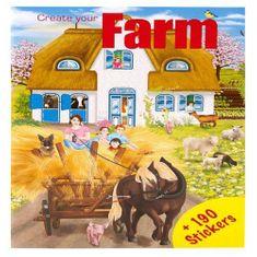 Create Your Kreativní sešit ASST, Farma, 190 samolepek