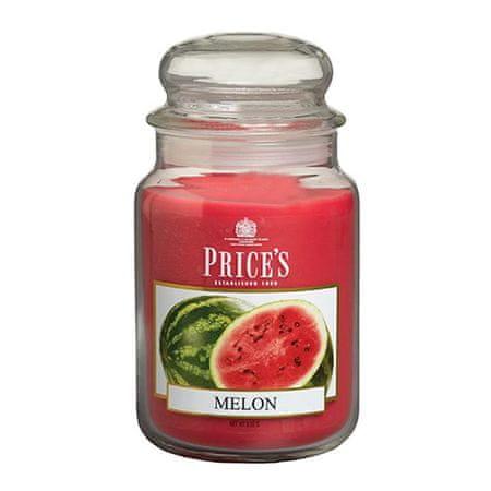 Price's Candles Gyertya üvegedénybe Ár gyertyák, Dinnye, 630 g