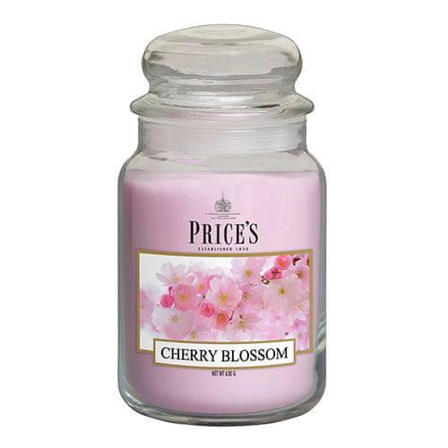Price's Candles Svíčka ve skleněné dóze Price´s Candles, Třešňový květ, 630 g