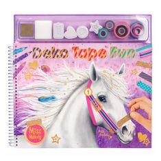 Miss Melody Kolorowanka, kreatywny zestaw Miss Melody, Taśma Deko Fun, kolorowe taśmy, znaczki