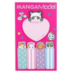 Manga Model Samolepiace bločky ASST, Srdiečko, 5 ks