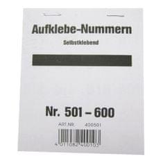 Wolf & Appenzeller Čísla samolepící , Čísla 501-600
