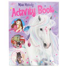 Miss Melody Kifestőkönyv, Miss Melody shuffle tevékenységei, Tevékenységi könyv, feladatokkal és labirintusokkal