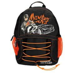 Monster Cars Batůžek , Alex se závodním autem, černo-oranžový