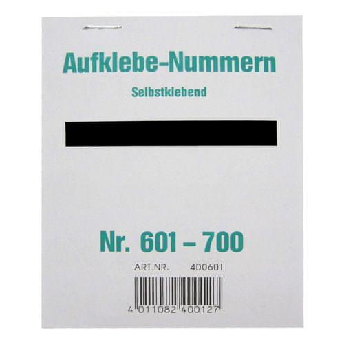 Wolf & Appenzeller Čísla samolepiace , Čísla 601-700