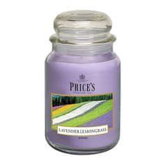 Price's Candles Svíčka ve skleněné dóze Price´s Candles, Levandule a citronová tráva, 630 g