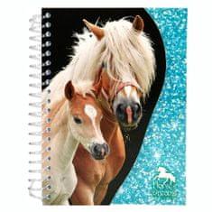 Horses Dreams Zápisník ASST, Světle modrý, 70 stran