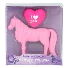 Horses Dreams Gumovací pryž ASST, Růžový kůň, 2 ks