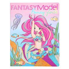 Fantasy Model Maľovanky, kreatívna sada , Morská panna, trblietavé fólie