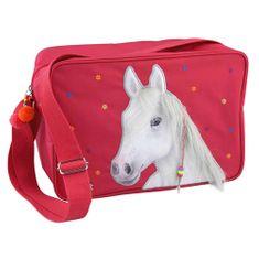 Taška přes rameno Miss Melody, S motiven koně, červená