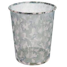 Idena Idena szemétkosár, Camouflage mintázat, fém, 36 cm