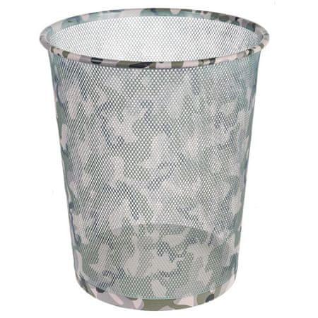 Idena szemétkosár, Camouflage mintázat, fém, 36 cm