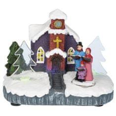 Idena Dekoračný kostol , vianočný, rozmer 11 x 10 x 6 cm, kostol