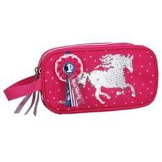 Miss Melody Kosmetická taška , Růžová, měnící flitrový obrázek