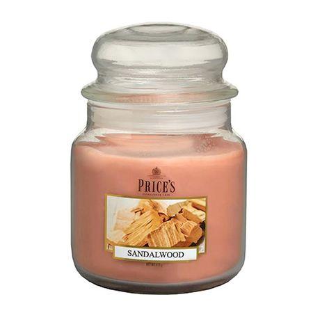 Price's Candles Gyertya üvegedénybe Ár gyertyák, Szantálfa, 411 g